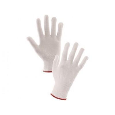 Rukavice SAWA textílne biele